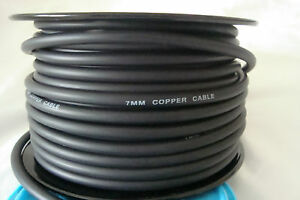 7mm Copper Core Spark Plug Wire / Ignition Wire.  Sold By The Foot.