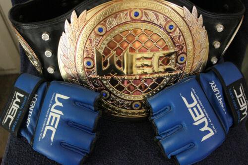 WEC Century XL MMA Gloves,WEC Replica Championship Belt GOLD/SILVER BRASS PLATED