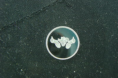 1 GRAM .999 SILVER SKULL WITH COWBOY HAT ROUND COIN BAR WITH 2 GUNS REAPER  - Skull With Cowboy Hat