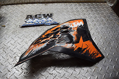 Y2-2 RIGHT SIDE GAS TANK COVER PANEL 08 KTM 250 SXF DIRT BIKE 2008 FREE SHIP