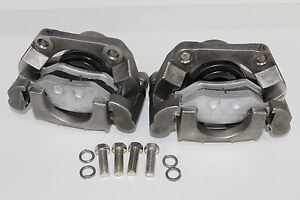 2-x-Stainless-steel-Trojan-Hydraulic-Brake-Caliper-Disc-Boat-Trailer-ski-boat