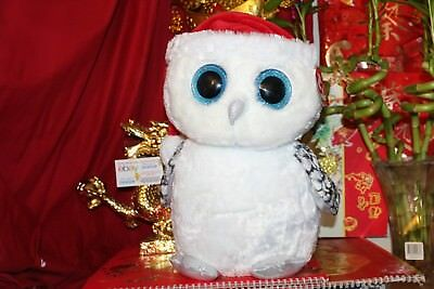 """TY BEANIE BOOS TINSEL THE OWL.JUMBO.16"""".CLAIRE'S EXCLUSIVE.2016.MWNMT.NICE GIFT"""