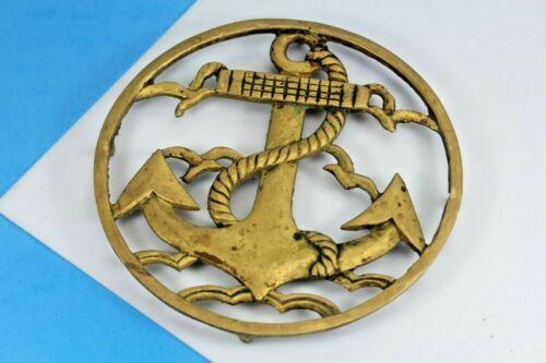 Vintage Brass Navy Anchor And Seagulls Trivet.