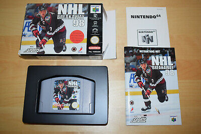 Nintendo 64 *NHL Breakaway 98* N64 OVP CiB Near Mint Anleitung TOP 99 Eishockey