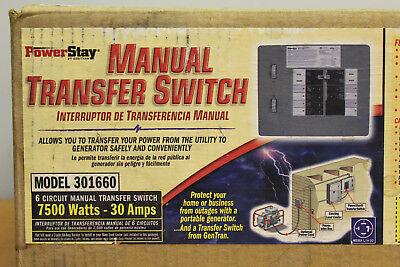 New Honda 32311-189008 30 Amp 6-circuit Indoor Transfer Switch 7500 Watt