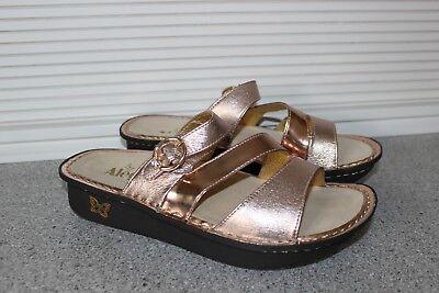 Alegria Leather Triple Strap Slide Sandal Colette    ROSE MIRROR   39