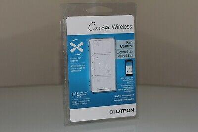 Lutron Caseta PD-FSQN-WH-R Wireless Smart Fan Speed Control White New (144)
