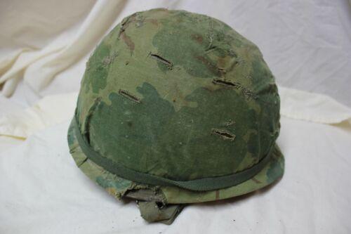 US Military Vietnam M1 Helmet Steel Pot Liner Mitchell Pattern Airborne  ParaTK9
