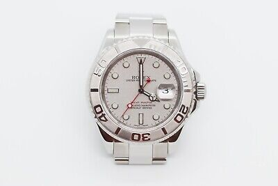 2005 Rolex Yacht-Master 16622 40mm Platinum Bezel & Stainless Steel Bracelet