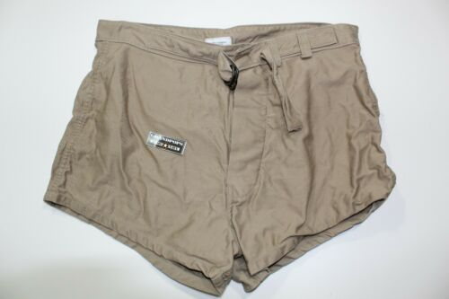 U.S. NAVY TAN SWIMMERS TRUNKS DATED 1998 SIZE 34.