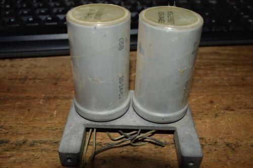 2 VINTAGE USED WESTERN ELECTRIC KS 13917 CAPACITORS 100UF 200VDC TUBE AMP #2