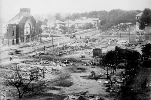 1921 Tulsa Oklahoma Race Riot-Destruction Aftermath in Greenwood-Photo