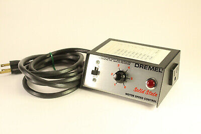 Vtg Dremel Solid State Table Top Motor Speed Control 219-2 Electric 120v Tool