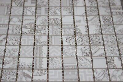 Versace Tiles Gold Mosaico Patch. Bianco 25х25