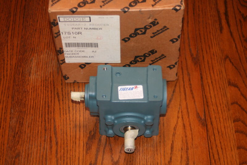 DODGE 17S10R TIGEAR-2 Right Angle Worm Gear Speed Reducer, 10:1 RATIO