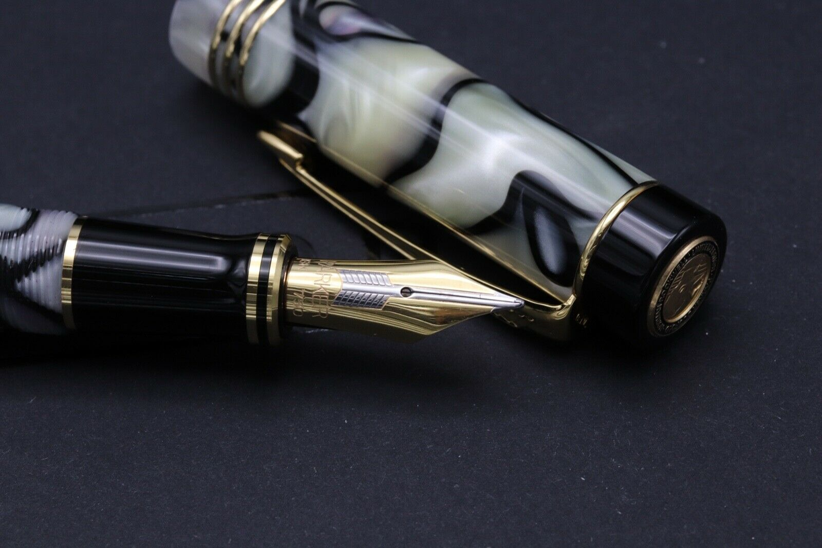 Parker Duofold Normal Rockwell Limited Edition Fountain Pen 4