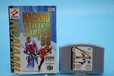 [3474] Nagano Winter Olympics 1998 Nintendo 64 Spiel N64 PAL Modul Anleitung