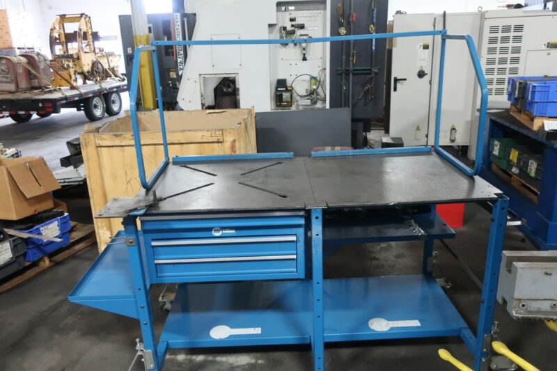 """ArcStation Welding Table 30 x 60"""" w/ X-Pattern and solid tabletop"""