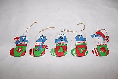Smurfs Stocking Porcelain Christmas Ornaments Wallace Berrie co.