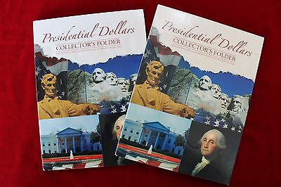 2-PRESIDENTIAL DOLLARS COLLECTORS FOLDERS, VOL 1+2 2007-2016 P+D,WHITMAN, NEW