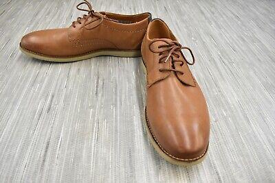 Clarks Raharto Plain Toe Leather Oxfords, Men's Size 8M, Dark Tan