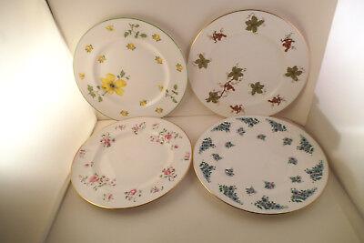 Royal Victoria Fine Bone China Set of 4 Dessert Salad Plates Mixed Flowers