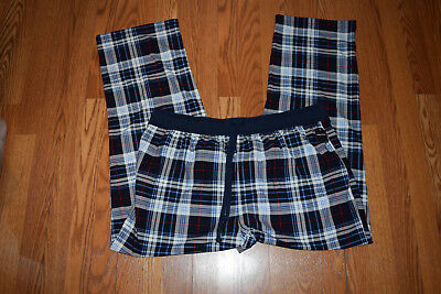 NWT Mens NAUTICA Sleepwear Navy Plaid Pajama Pants M