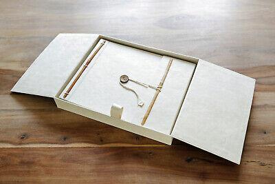 Fotoalbum aus handgeschöpftem Loktapapier in schöner Geschenkbox  (Fotoalbum Elfenbein)