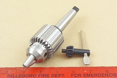 New Genuine Mt2 Jacobs 33 Tailstock Drill Chuck 4 Lathe 12 Capacity Key