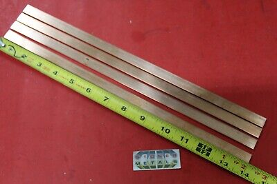 4 Pieces 18 X 12 C110 Copper Bar 14 Long Solid Flat Mill Bus Bar Stock H02