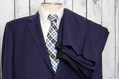 Baroni SUPER 150's 2 piece Blue Suit- 100% Wool - 46R Jacket /40R Pants - EUC!