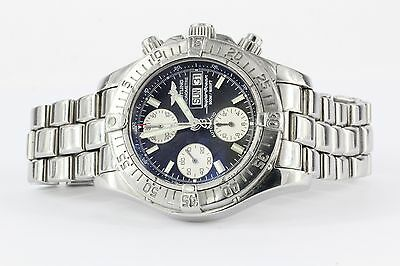 Breitling Superocean Chronograph A13340 Black 42mm Automatic Calendar Watch Mens