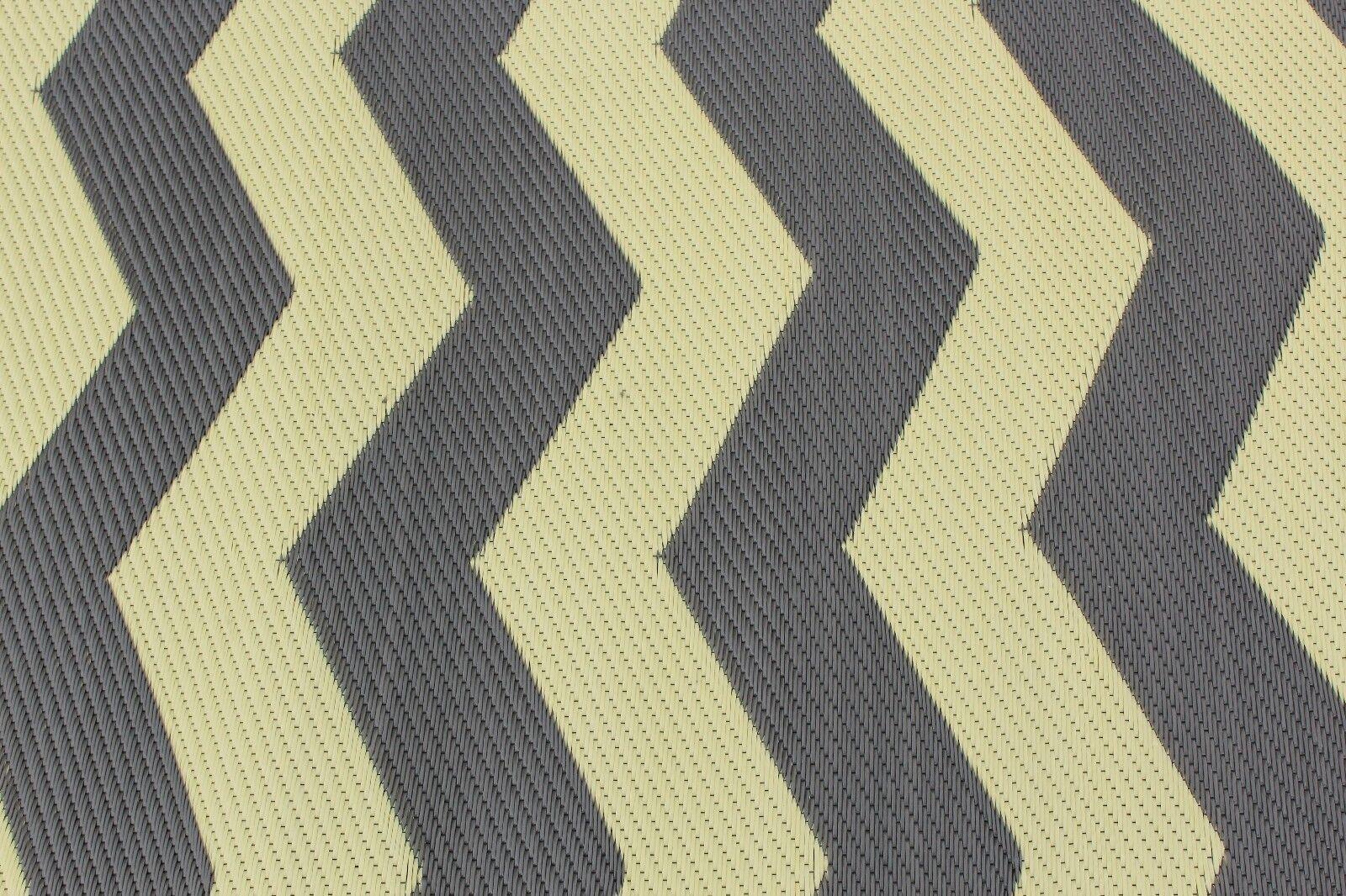 Rv Patio Rug Indoor Outdoor Camping Mat Chevron Pattern