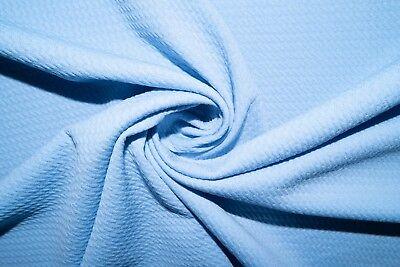 Powder Blue #37 Bullet Double Knit Stretch Polyester Lycra Spandex Fabric (Blue Double Knit Polyester)