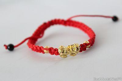 Golden Metal Pi Xiu Pi Yao Feng Shui Wealth Health Lucky Longevity Charm String