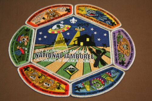 """BSA """"2013"""" National Jamboree CROSSROADS OF AMERICA COUNCIL Patches"""