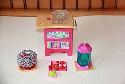 Barbie Dream House Replacement Vanity Fish Tank ~ Stovetop ~ Fan ~Sink Set
