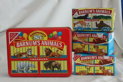 VINTAGE 1991 NABISCO 85 ANNIVERSARY ANIMAL CRACKER TIN BOX