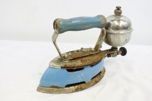 Vintage Coleman Instant Lite Model 4A Blue Enamel 1930s Gas Iron Kitchen Home