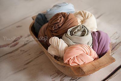 Various Colours Fine Jersey Super Stretch Wraps  Newborn Photography- Photo Prop