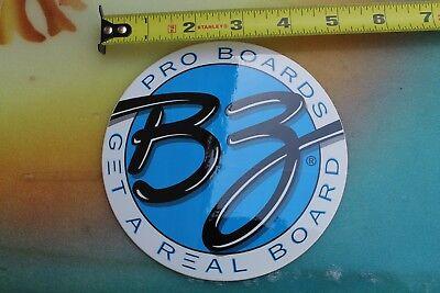 BZ Surfboards Bodyboards Pro Boogie Boards Morey Neon Vintage Surfing STICKER
