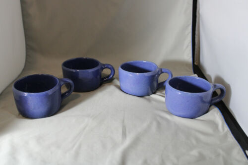Lot of 4, Bybee, 8 ounce  Blue Mugs, Lot number 2