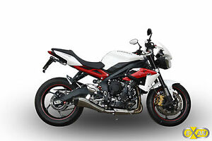 pot d 39 echappement silencieux exan x black evo inox triumph street triple 2013 ebay. Black Bedroom Furniture Sets. Home Design Ideas
