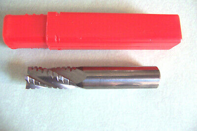 Resharpened - 12 Solid Carbide Roughingfinisher End Mill Center Cutting