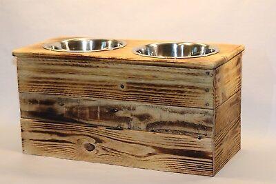 XL Double Dish  Elevated Dog Dish XL Feeding Stand  Dog Dish Elevated Pet Feeder