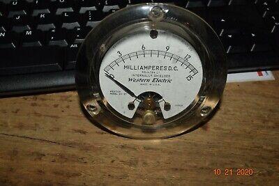Vintage 1964 Western Electric Round Lucite D.c. Milliamperes 0-1 Panel Meter Amp