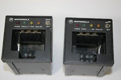 2 Motorola Ntn9176b Police Vehicular Radio Charger Xts3000 Xts500 Mt1500 Xts1500