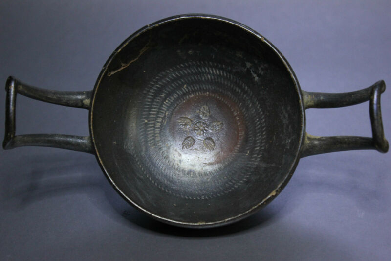 B.C.A.D. ART - 300 B.C. BLACK WARE DAUNIAN BOWL