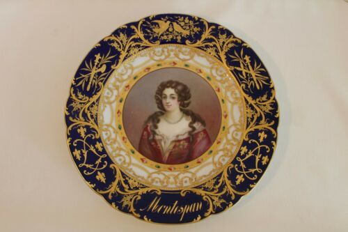 ANTIQUE ROYAL VIENNA SEVRES PLATE 19TH CENTURY