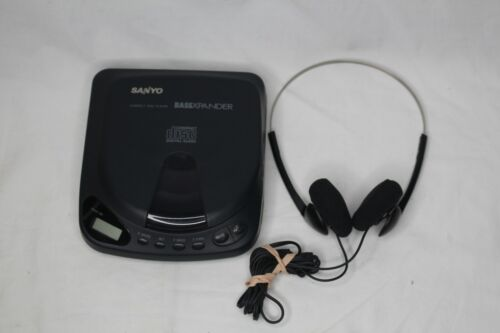 Sanyo CDP-150 Black Personal Portable CD Player BassXpander Working W/ Headphone